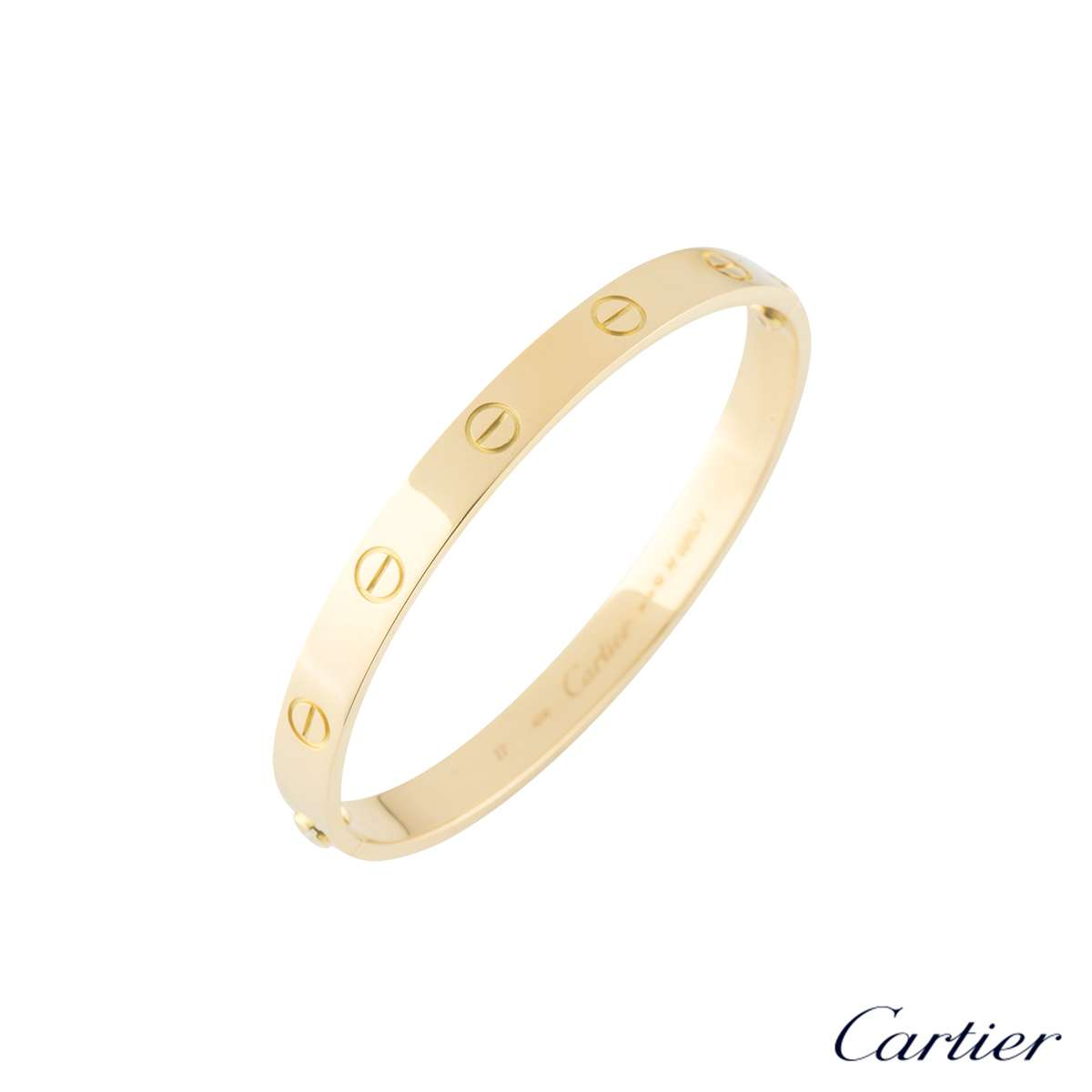 Cartier Yellow Gold Love Bracelet Size 21 B6035521